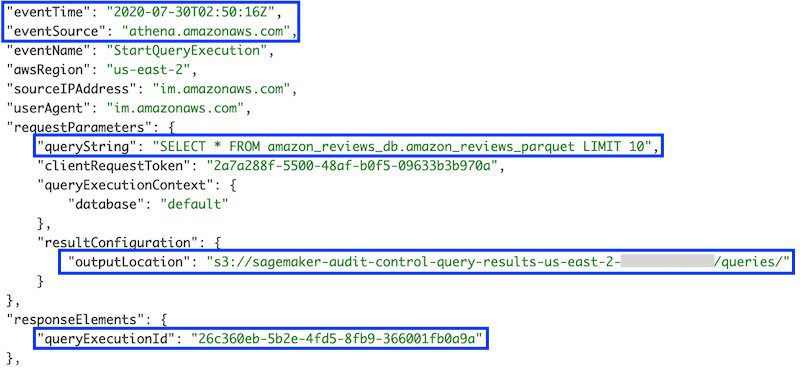 Output location. The query output is stored in CSV format in this Amazon S3 location. Files for each query are named using the query ID.