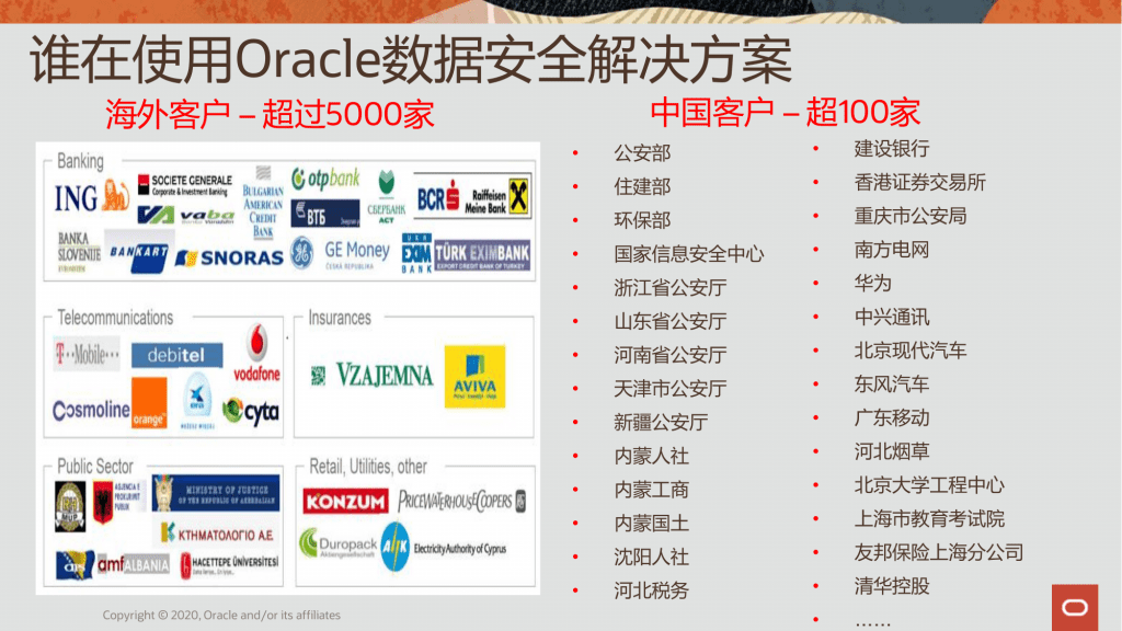 A recent Oracle document describes data security work for police in multiple parts of China, including Xinjiang.