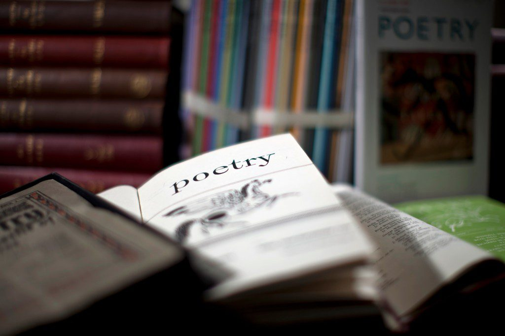 The issues of Poetry Magazine are displayed at the Newberry Library in Chicago, Illinois, December 16, 2009.